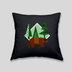 Brown bear cushion - Cushion with removable cover and invisible zip on the back. 32x32cm -. 22,87€