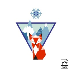 Mountain fox - Vector graphics - Vector graphic, format: svg. Download for personal, private and non-commercial use. -. 10,89€
