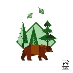 Brown bear - Vector graphics - Vector graphic, format: svg. Download for personal, private and non-commercial use. -. 10,89€
