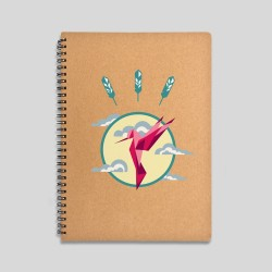 Hummingbird notebook - 120 sheets notebook with hard cover made of recycled cardboard. 16x22cm -. 15,61€