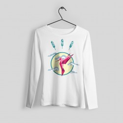 Hummingbird printed sweater - Regular fit, round neckline, long sleeves. 100% cotton, brushed inner side for extra comfort.  -.