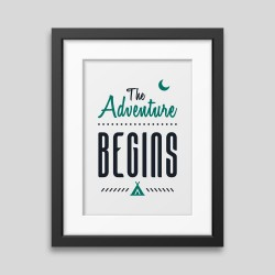 The adventure begins Framed poster - Printed on rigid matt finish and smooth surface. -. 35,09 €