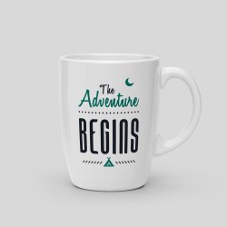 Mug The adventure begins - White Ceramic Mug. 325ml -. 14,40 €