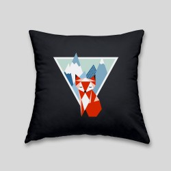Mountain fox cushion - Cushion with removable cover and invisible zip on the back. 32x32cm -. 22,87€